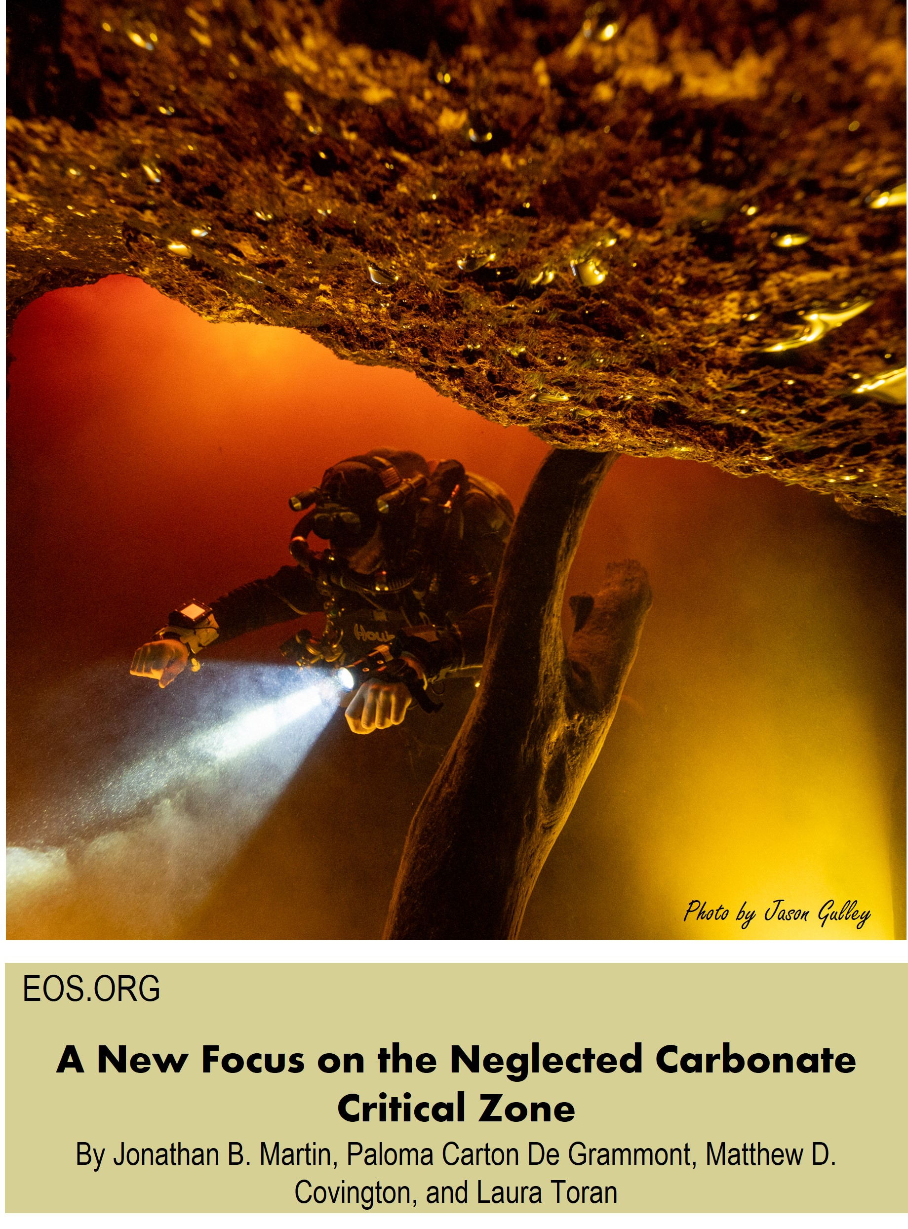 EOS publication: A New Focus on the Neglected Carbonate Critical Zone